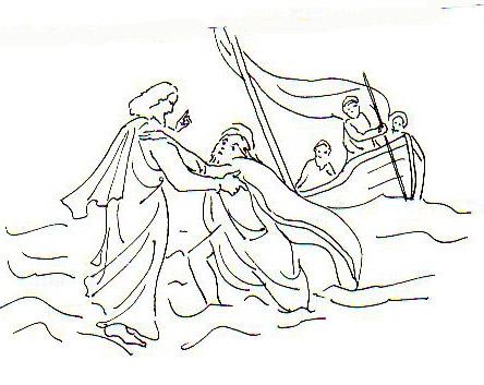 Jésus marche sur les eaux | Images Bible : Les Images de ...