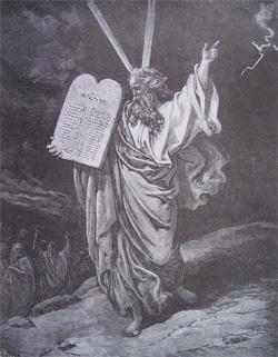 Mo se et les tables de la loi images bible les images de la bible - Les tables des 10 commandements ...
